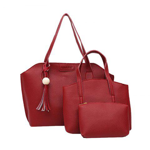 The Three-Piece Set of The Lychee with A Smiling Face Is Cross-Packed - RED