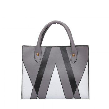 The Triangle Print Killer Woman Hits The Female Bag - DEEP GRAY DEEP GRAY