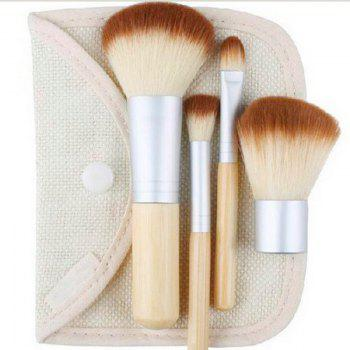 Mini 4 Piece Bamboo Brush Set -  WOOD