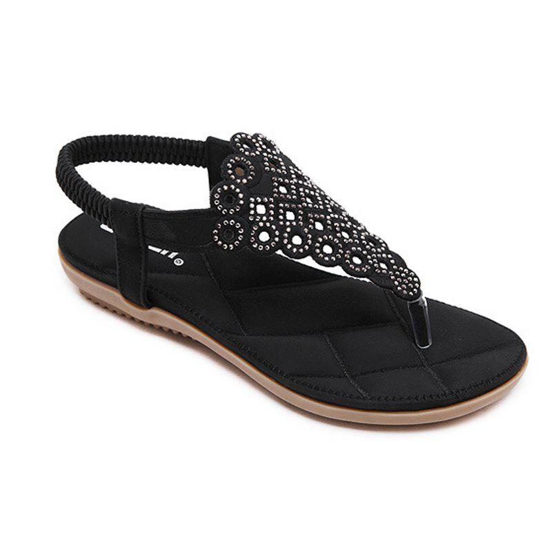 Las Rubber Sole Water Drilling Foreign Trade Size Shoes Black 36