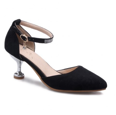 Miss Shoes 559 Pointed Glasses and Fashionable Single Shoes - BLACK 33