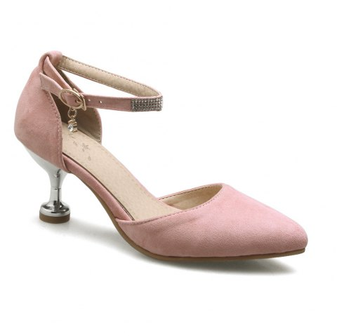 Miss Shoes 559 Pointed Glasses and Fashionable Single Shoes - PINK 34