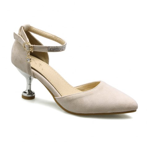 Miss Shoes 559 Pointed Glasses and Fashionable Single Shoes - APRICOT 39