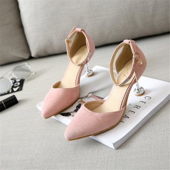 Miss Shoes 559 Pointed Glasses and Fashionable Single Shoes - PINK 43