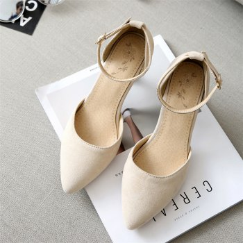 Miss Shoes 559 Pointed Glasses and Fashionable Single Shoes - APRICOT 41