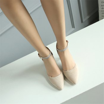 Miss Shoes 559 Pointed Glasses and Fashionable Single Shoes - APRICOT 34