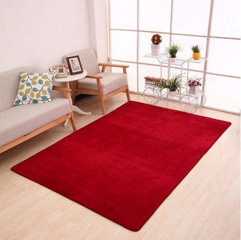 Doormat Modern Style Solid Water Proof Carpet4 - BURGUNDY 40X60CM