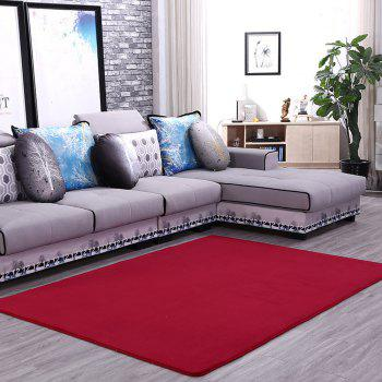Doormat Modern Style Solid Water Proof Carpet4 - BURGUNDY 50X80CM