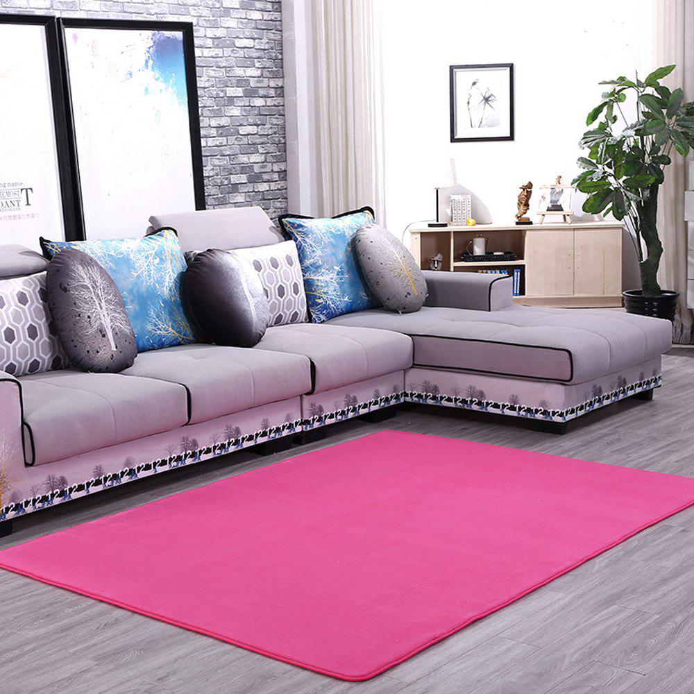 Doormat Modern Style Solid Water Proof Carpet5 - ROSE RED 50X80CM