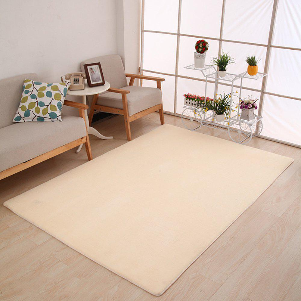 Doormat Modern Style Solid Water Proof Carpet6 - BEIGE 50X80CM