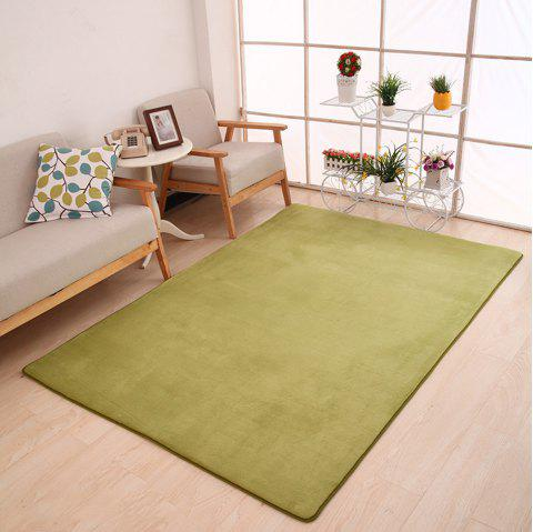 Doormat Modern Style Solid Water Proof Carpet7 - GREEN 140X200CM