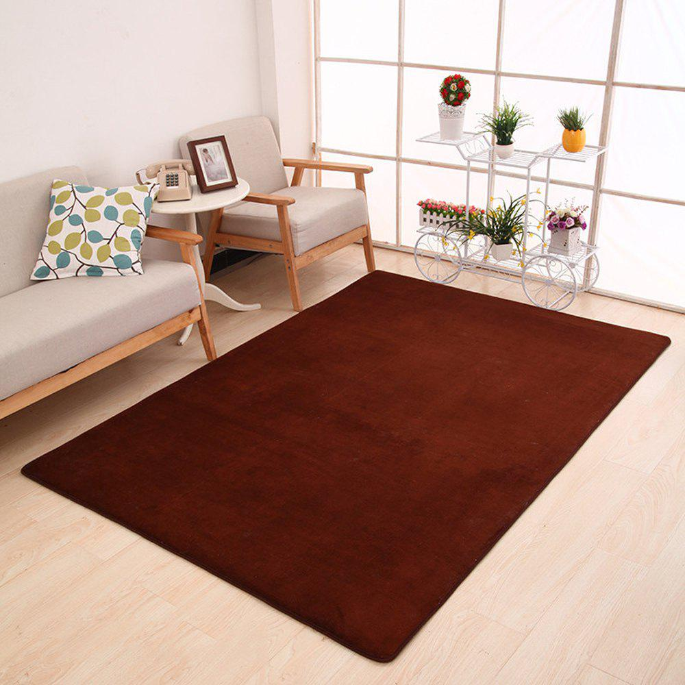 Doormat Modern Style Solid Water Proof Carpet9 - COFFEE BROWN 140X200CM