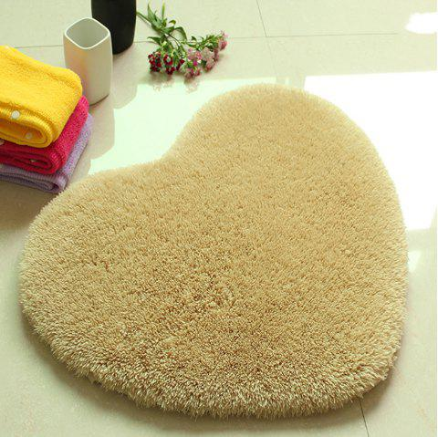 Door Mat Sweet Heart Shape Cute Home Decor Floor Mat - KHAKI 40X50CM