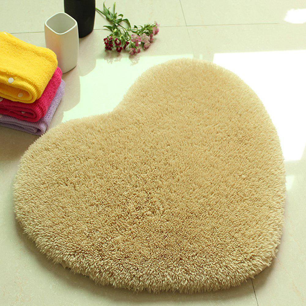 Door Mat Sweet Heart Shape Cute Home Decor Floor Mat - KHAKI 50X60CM