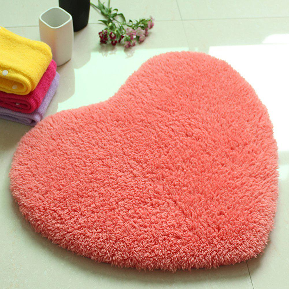 Tapis de porte Sweet Heart forme mignonne Home Decor Floor Mat3 - ROSE PÂLE 40X50CM