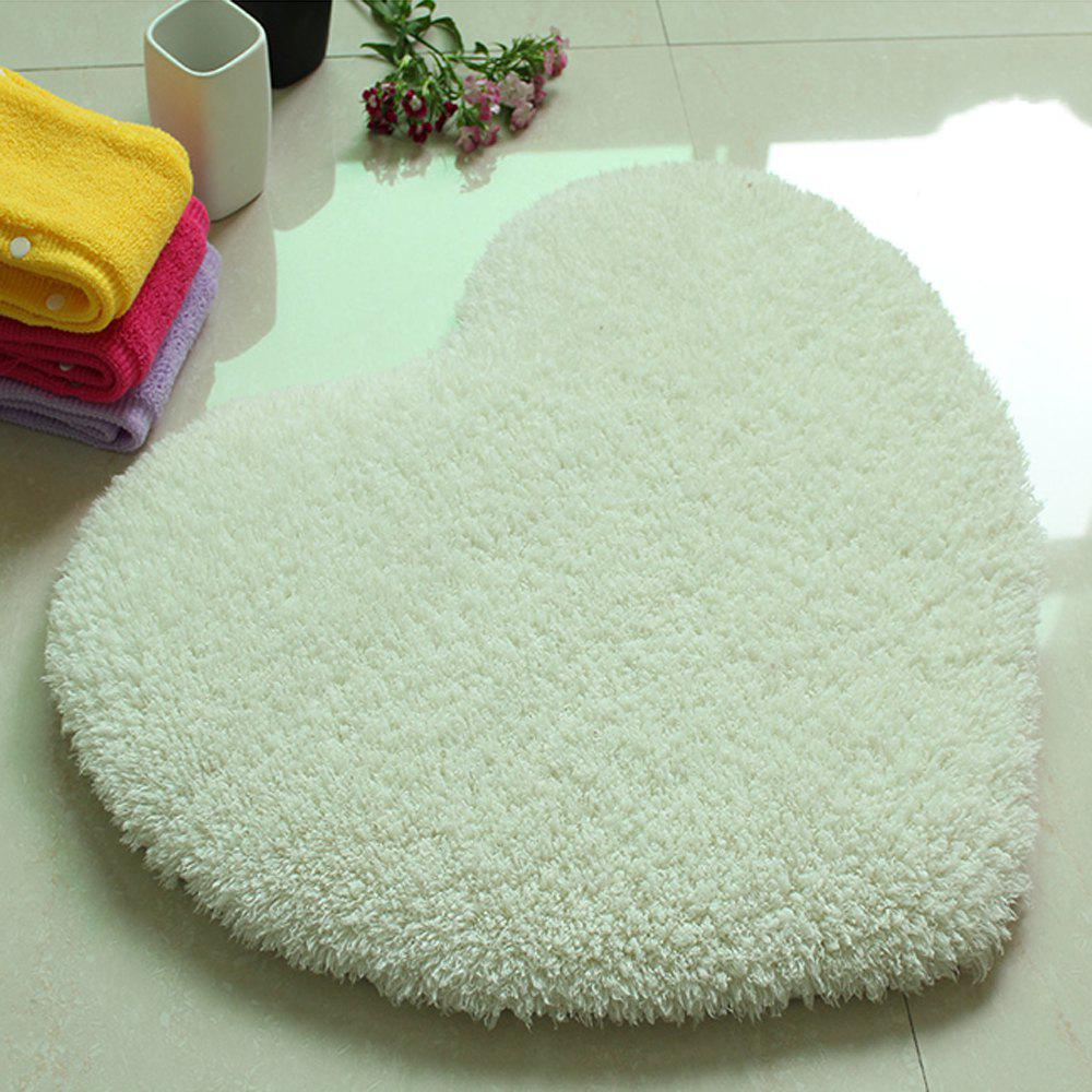 Door Mat Sweet Heart Shape Cute Home Decor Floor Mat4 - WHITE 50X60CM