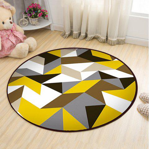 Floor Mat Modern Style Geometry Pattern Multi Colored Round Decorative Mat1 - COLORMIX 80X80CM