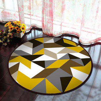Floor Mat Modern Style Geometry Pattern Multi Colored Round Decorative Mat1 - COLORMIX 100X100CM