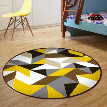 Floor Mat Modern Style Geometry Pattern Multi Colored Round Decorative Mat1 - COLORMIX 120X120CM