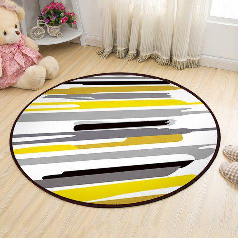 Floor Mat Modern Style Lines Pattern Multi Colored Round Decorative Mat1 - COLORMIX 120X120CM