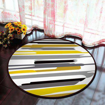 Floor Mat Modern Style Lines Pattern Multi Colored Round Decorative Mat1 - COLORMIX 40X40CM