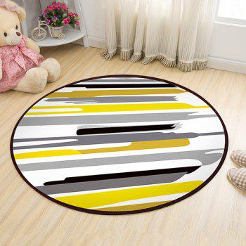 Floor Mat Modern Style Lines Pattern Multi Colored Round Decorative Mat1 - COLORMIX COLORMIX