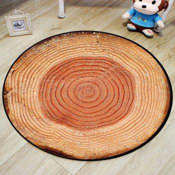 Bedroom Floor Mat Vintage Tree Annual Ring Pattern Soft Home Doormat2 - LIGHT BROWN 80X80CM