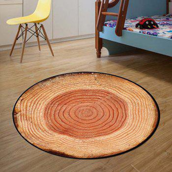 Bedroom Floor Mat Vintage Tree Annual Ring Pattern Soft Home Doormat2 - LIGHT BROWN LIGHT BROWN