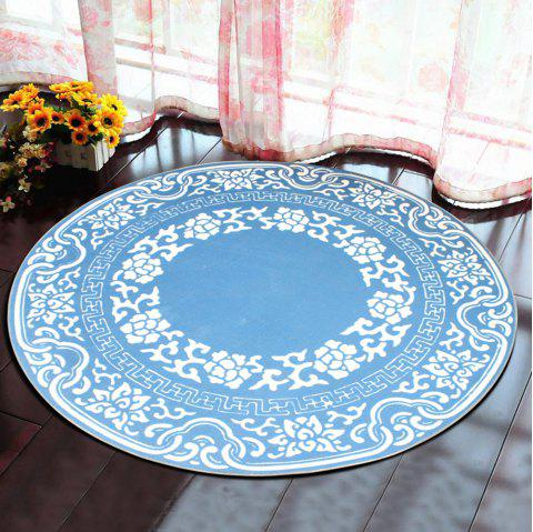 Bedroom Floor Mat Vintage Tree Annual Ring Pattern Soft Home Doormat6 - LIGHT BLUE 120X120CM
