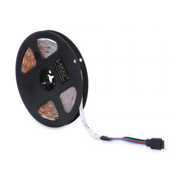 HML 2pcs 5M waterproof 24W RGB 2835 300 LED Strip Light - RGB with IR 20 Keys Music Remote Control and US Adapter - RGB