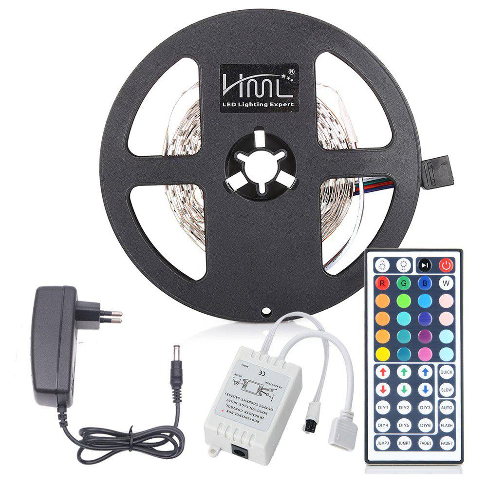 HML 5M 24W RGB 2835 SMD 300 LED Strip Light with IR 44 Keys Remote Control+ EU Adapter - RGB