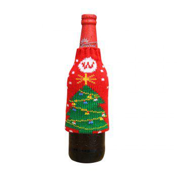 New Christmas items Christmas knitted wine bottles set Christmas snowman beer bottle sets Christmas decorations - THE CHRISTMAS TREE