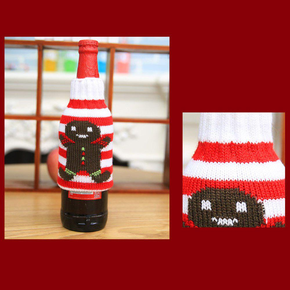 New Christmas items Christmas knitted wine bottles set Christmas snowman beer bottle sets Christmas decorations - COKIE PERSON