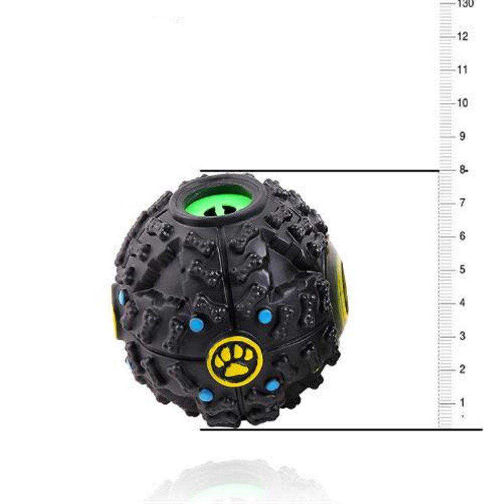 8 CM Hot Sound Leakage Food Ball Dog Toy Pet Shrieking Ball Puzzle Resistant Teeth Bite Toys - BLACK