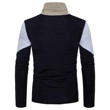 New Men'S Fashion and Leisure Long Sleeved Long Knit Sweater MJ25 - BLACK 2XL