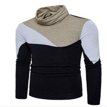 New Men'S Fashion and Leisure Long Sleeved Long Knit Sweater MJ25 - BLACK M