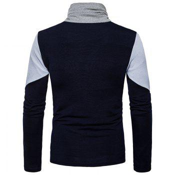 New Men'S Fashion and Leisure Long Sleeved Long Knit Sweater MJ25 - CADETBLUE S