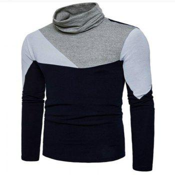 New Men'S Fashion and Leisure Long Sleeved Long Knit Sweater MJ25 - CADETBLUE XL