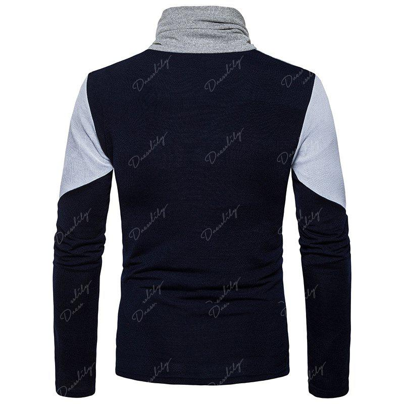 New Men'S Fashion and Leisure Long Sleeved Long Knit Sweater MJ25 - CADETBLUE M
