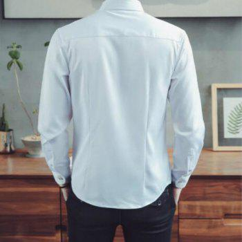 Spring and Autumn Popular Cotton Long Sleeved Shirt C913 - WHITE 3XL