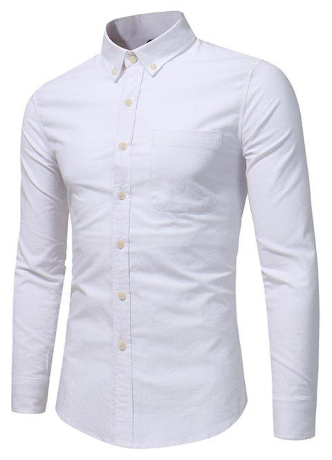All Year Best-Selling Men'S Fashion Leisure Whole Cotton Shirt C914 - WHITE 2XL