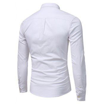 All Year Best-Selling Men'S Fashion Leisure Whole Cotton Shirt C914 - WHITE S