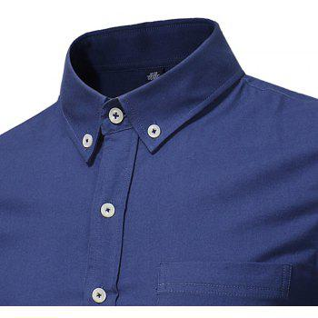 All Year Best-Selling Men'S Fashion Leisure Whole Cotton Shirt C914 - DEEP BLUE L