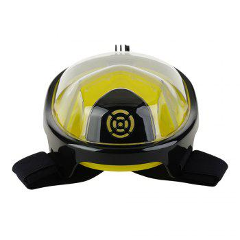 Full Face Snorkel Mask with Panoramic View Anti-Fog Anti-Leak Anti-vertigo Design 180 Degrees Viewing field of vision - BLACK/YELLOW L/XL
