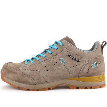 HUMTTO Women Trekking Shoes Breathable Sneakers Leather Walking Shoes - CAMEL 38