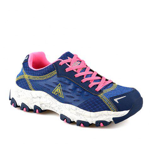 HUMTTO Women's Walking Shoes Lightweight Breathable Trekking Shoes - DEEP BLUE 37