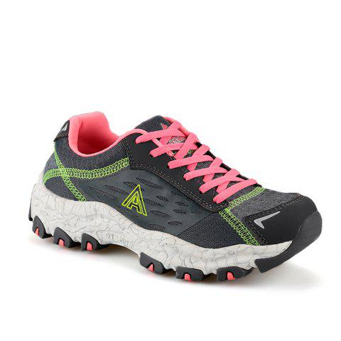 HUMTTO Women's Walking Shoes Lightweight Breathable Trekking Shoes - GRAY 38