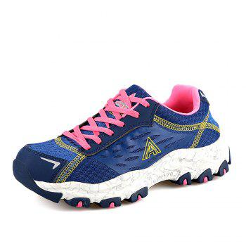 HUMTTO Women's Walking Shoes Lightweight Breathable Trekking Shoes - DEEP BLUE 36