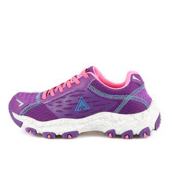 HUMTTO Women's Walking Shoes Lightweight Breathable Trekking Shoes - PURPLE 38