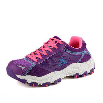 HUMTTO Women's Walking Shoes Lightweight Breathable Trekking Shoes - PURPLE 36